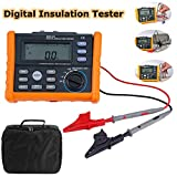 Digital Insulation Tester,Digitales Widerstandsmessgerät Isolationsmessgerät Widerstandstester Digital widerstand Meter Multimeter