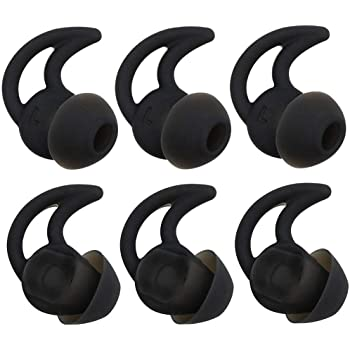 Bose Replacement Noise Isolation Silicone Earbuds//Earplug Tips Compatible with Bose in-Ear Wired Earphones for Bose QC20 QuietControl 20 QC30 SIE2 IE3 Soundsport Headphones Medium-Sized, Black