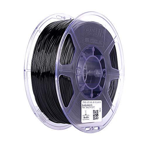 eSUN 1.75mm TPU 95A Flexible 3D Printer Filament 1KG Spool (2.2lbs), Black