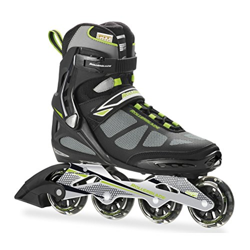 Rollerblade Men's Spark 80ALU Skate, Black/Green, 7