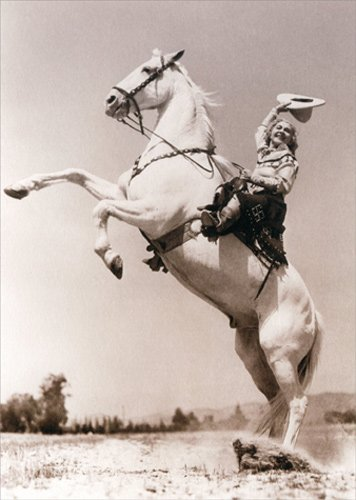 Female Rodeo Rider - Avanti America Collection Birthday Card