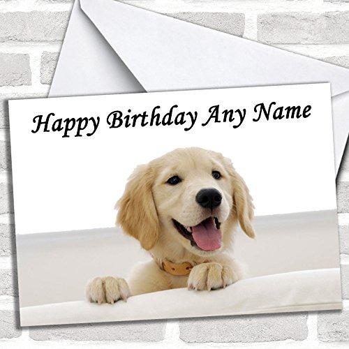 Prachtige Labrador Puppy Hond Verjaardagskaart Met Envelop, Kan Volledig Gepersonaliseerd, Verzonden Snel & Gratis