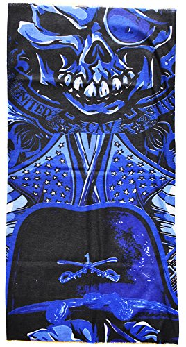 Cagoule bandana Tour De Cou Tube Cache Nez foulard protege cou motard tete de mort pirate