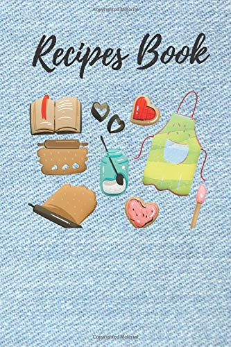 recipes book you like in your own personalized cookbook: notebook/joural book  120 pages 6x9 soft cover