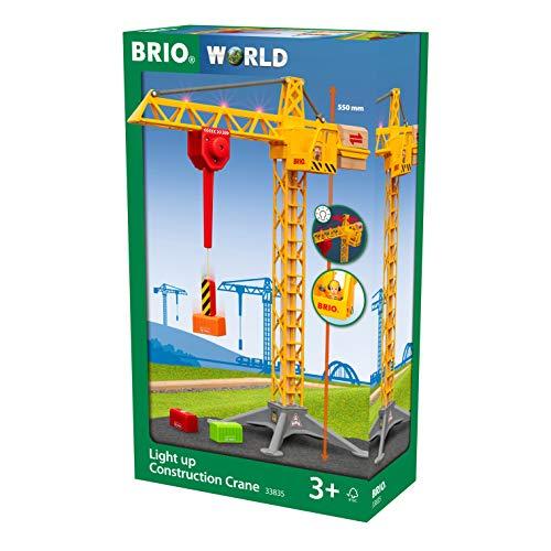 BRIO 33835 Großer Baukran mit Licht, Yellow
