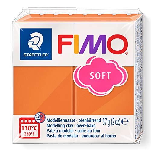 STAEDTLER 8020-76 ST 8020-76 - Fimo Soft Normalblock, Modelliermasse, 57 g, cognac