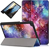 DETUOSI Case for Galaxy Tab A 8.0 Case 2019 (SM-T290),【Multi-Angle】 Ultrathin Protective Case Magnetic Trifold Stand Cover for Samsung Galaxy Tab A 8.0 Inch SM-T290/T295/T297 Tablet(2019),Milky Way