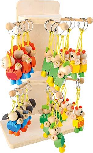 Legler 3929 Lot de 24 porte-clés animaux flexibles