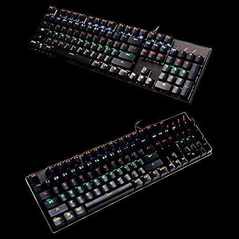 DADUIZHANG Profession Game Mechanical Gaming Keyboard 104 Key Metal RGB Lighting Waterproof Wired USB for Computer Laptop Black