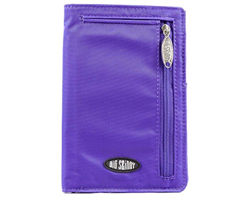Big Skinny Women's Plus Size myPhone Bi-Fold Slim Wallet, Holds Up to 20 Cards, Purple