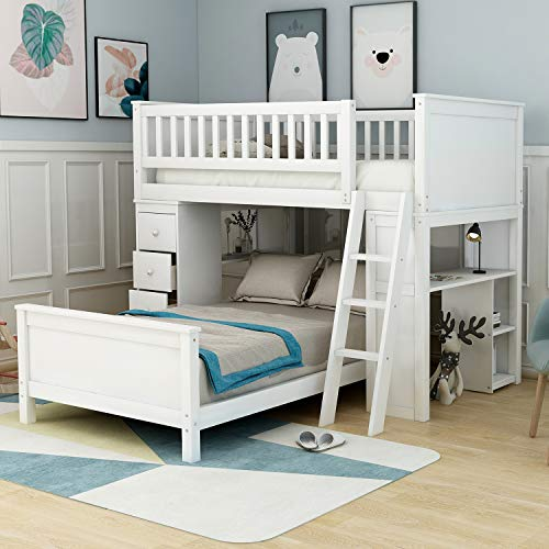 Twin-Over-Twin Bunk Bed for Kids