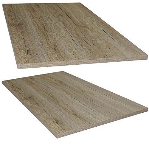 Tischplatte aus Holz für Schreibtische - Holzplatte perfekt geeignet für Schreibtisch, Couchtisch/Esstisch - Verschiedene Größen & Farben (115x65cm, San Remo Eiche)
