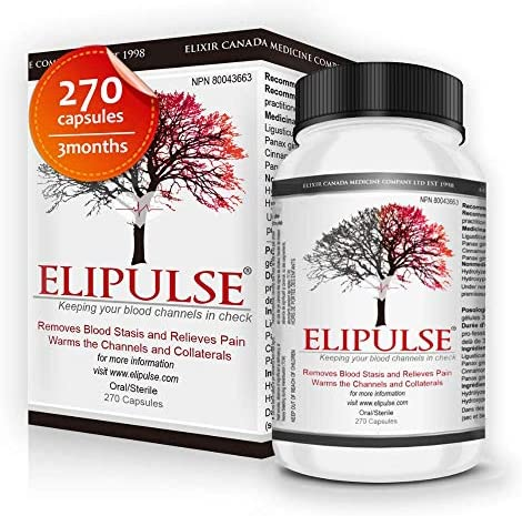 Elipulse Capsules Natural Blood Pressure Support Supplement for Adults High Potency Traditional product image