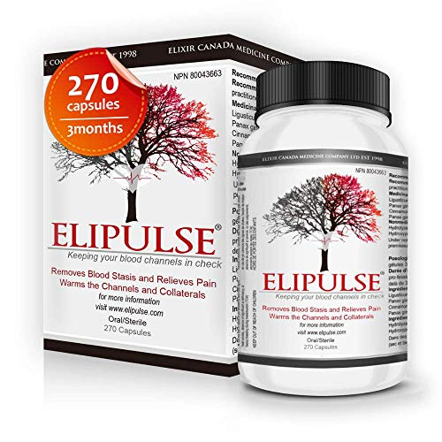 Elipulse Capsules® - Natural Blood Pressure Support Supplement for Adults - High Potency Traditional Formula 270 Plant-Based Capsules - Cardiovascular & Heart Health Supplement CoQ10 Alternative