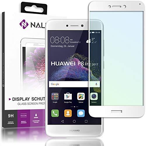 NALIA Cristal Templado Compatible con Huawei P8 Lite 2017, Vidrio Blindado Película...