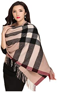 MUZIWENJU Wool Scarf, Ladies Winter Shawl Scarf, (Optional in Two Colors) (Color : Beige)