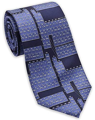 Corbata de seda de la tabla periódica/de la ciencia de los hombres Corbata azul, de seda suave del caballero del negocio suave