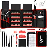 STREBITO Screwdriver Sets 142-Piece Electronics Precision Screwdriver with 120 Bits Magnetic Repair Tool Kit for iPhone, MacBook, Computer, Laptop, PC, Tablet, PS4, Xbox, Nintendo, Game Console