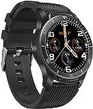 QHG Monitor de Salud Smart Watch Screen Pantalla Completa Toca Fitness Tracker Monitor de Ritmo cardíaco Monitor de Llamadas Recordatorio Deportivo Fitness Reloj para Hombres Mujeres (Color : Black)