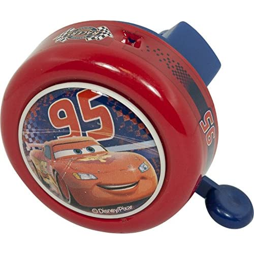 Disney  35552 - Cars, Campanello in Metallo per Bicicletta, Rosso