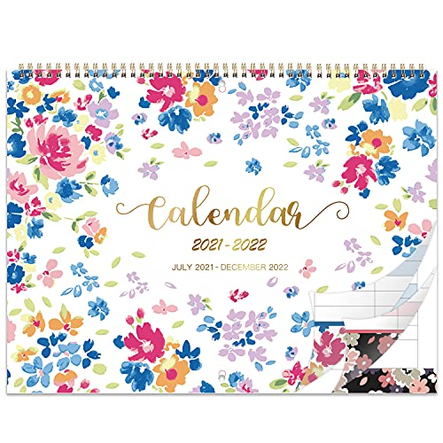 Calendar 2021-2022 - 18 Months Family Calendar With Week Count, July 2021 -...
