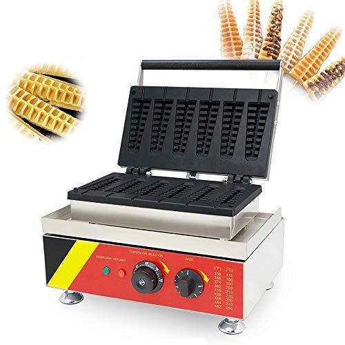 CGOLDENWALL NP-503 6 stuks Commercial Hot Dog elektrische wafelijzer muffin wafelijzer wafelijzer Baker Lolly wafelijzer maïs hot dog machine (maïsvorm) 110/220 V CE