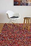 Moderner Teppich Confetti 120x170cm - bunter, handgewebter Teppich aus 100% recycelter Sari Baumwolle