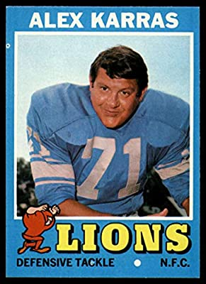 Football NFL 1971 Topps #41 Alex Karras NM Near Mint Lions