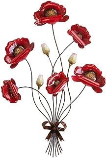 Branche murale « Coquelicot » - 66 cm - Rouge