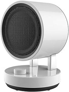 ZHHL Calentadores de ventilador, pequeños calentadores eléctricos domésticos Radiador Ahorro de calor rápido - con 3 configuraciones de calor, protección contra sobrecalentamiento (blanco)