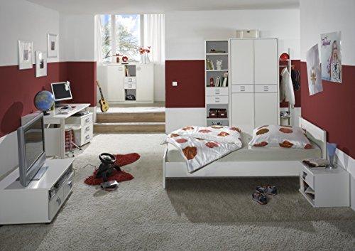 Dreams4Home Kinderzimmer 'Sunny', Jugendzimmer, Schreibtisch, Komplett, Kinderschreibtisch, Kinderkleiderschrank, Schubkastenkommode:ohne Schubkästen