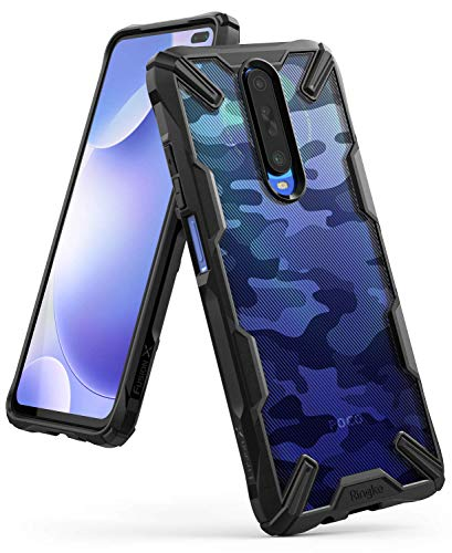 Ringke Fusion-X DDP Kompatibel mit Xiaomi Redmi K30 Hülle, Poco X2 Schutzhülle Schlagfeste Transparente Rückseite mit TPU Rahmen - Camo Black