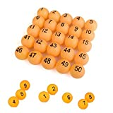 wooden beer pong - SelfTek 100Pcs Numbered Beer Pong Balls 40mm Raffle Balls (No. 1-100)