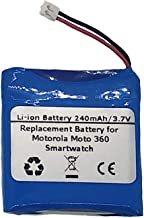 3.7V/240mAH Replacement Battery for Motorola Moto 360 (2014 1st Generation) Smartwatch, Compatible with Motorola SNN5951A WX30