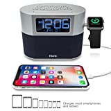 iHome iWBT400 Bluetooth Dual Alarm FM Clock Radio with Speakerphone, Apple Watch...
