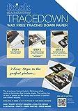 Frisk Tracedown - Papel de calco gráfico (A3, 5 Unidades), Color Blanco