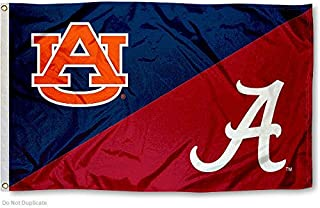 College Flags and Banners Co. Auburn vs. Alabama House Divided 3x5 Flag