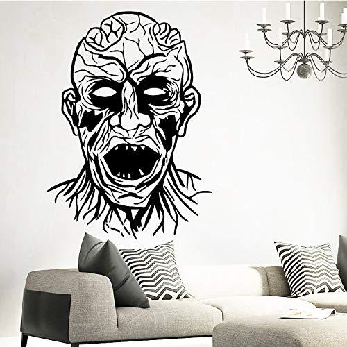 mlpnko Grusel Monster Wandaufkleber Tapete Wohnaccessoire abnehmbare Raum Selbstklebende Wand 45X61cm