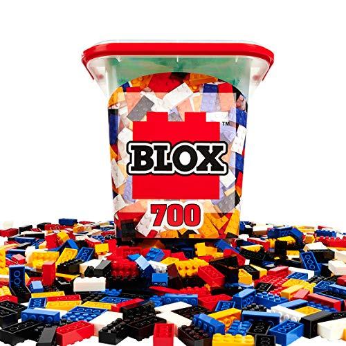 Simba – Blox – 700 Bausteine für Kinder ab 3 Jahren, 8er Steinebox mit Grundplatte, vollkompatibel,...