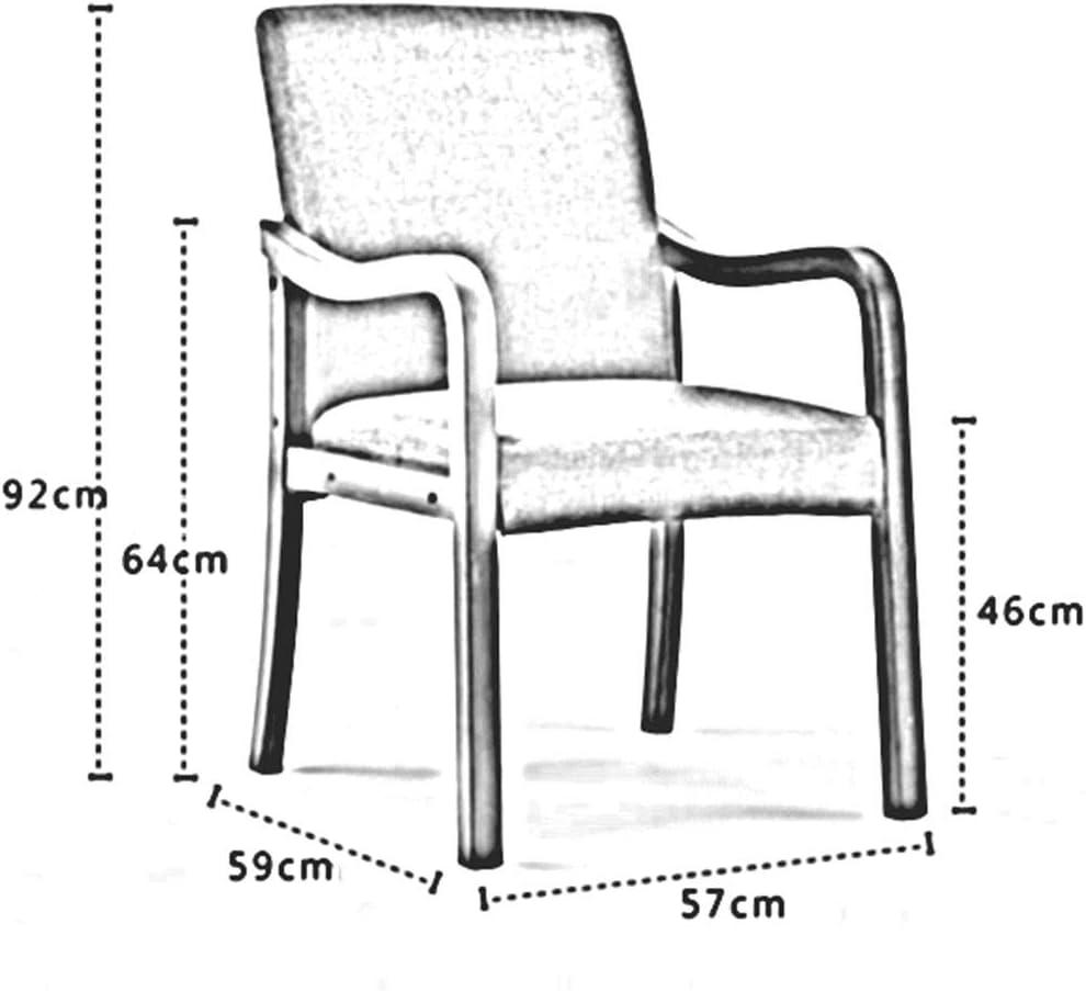 DALL Chaise De Salle à Manger en Bois Fauteuil Chaise De Table avec Dossier Housse en Lin Amovible Chaise De Maquillage Assemblée 57 × 59 × 92 Cm(Color:Gris) Gris