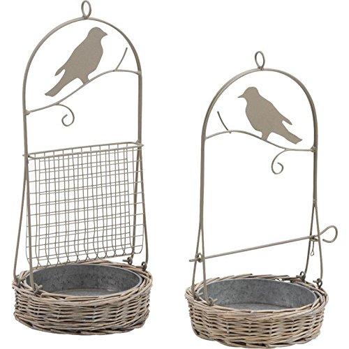Inconnu vogelvoederhuisje voor vogels, buitenkant van metaal en mand, korrel en vetbol