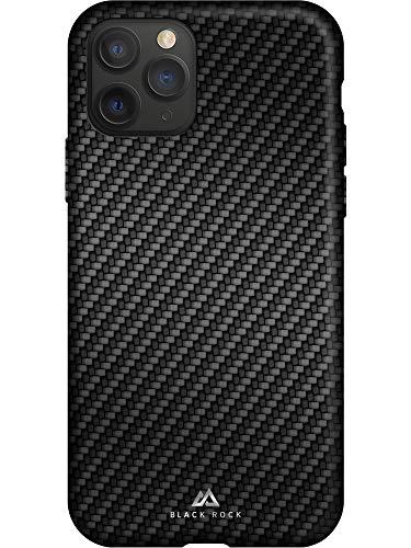 Black Rock - Flex Carbon Hülle Hülle für Apple iPhone 11 Pro | Handyhülle, Schutzhülle, Silikon, Soft, TPU, Fiber Cover (Schwarz)