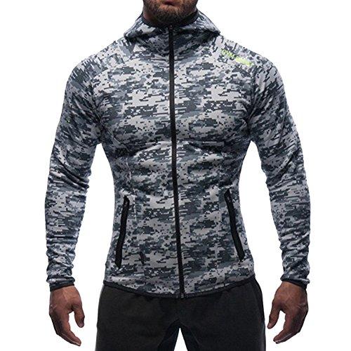 Broki - Sudadera con capucha - para hombre multicolor camouflage S