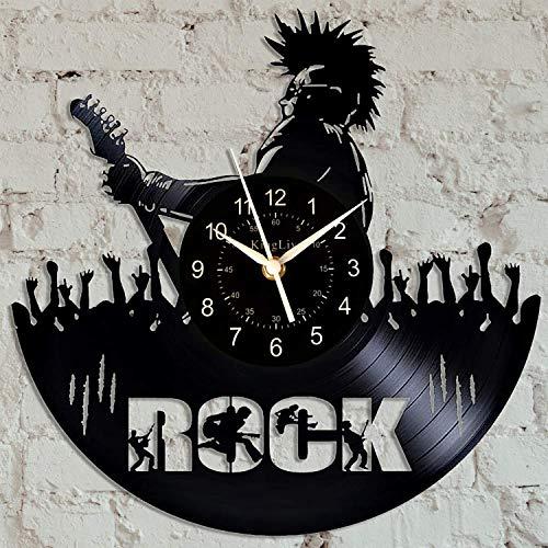Reloj de pared con disco de vinilo de 30,48 cm de vinilo para CD de cuarzo, para decoración del hogar, creativo, para colgar en la...