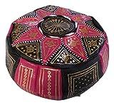 Puf Puff Puff Puf vacío Marruecos Auténtico Piel Árabe Etnico Reposapiés Otomano hecho a mano