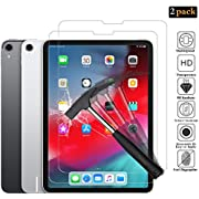 ANEWSIR Compatible with iPad Pro 11 Screen Protector, [2 Pack] iPad Pro 11 Tempered Glass, Screen Protector for iPad Pro 11 Inch 2018 HD Scratch Resistance [Bubble Free] [Anti-Fingerprint].