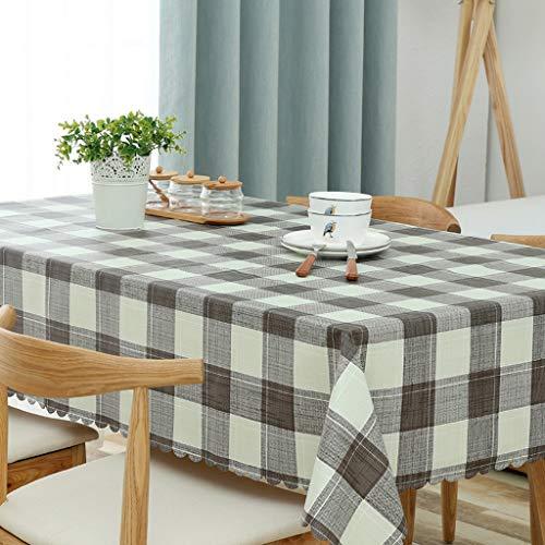 JXXDQ Housse de table en tissu Housse de table rectangulaire Housse en tissu de mariage simple (Color : Gray, Size : 110 * 160cm)