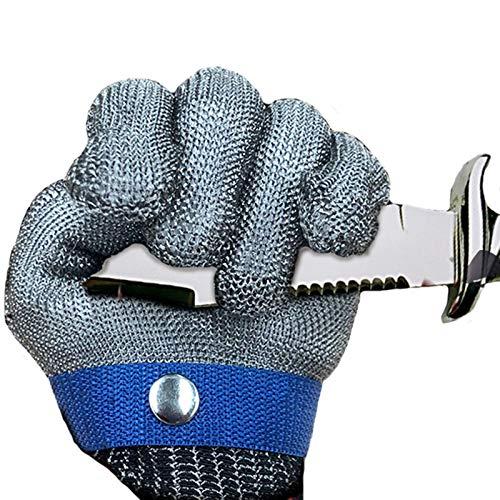 Guantes Resistentes a Cortes-XHZ Guantes Individuales Anti-Corte, Guantes de protección de Cinco Niveles, Guantes de Seguridad para Sacrificio y Soldadura. Gris, tamaño: XS - XXXL (Size : Large)