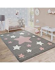 Dywan Dzieciêcy Modny Dla Dzieci W Pastelowych Kolorach Z Motywami Gwiazd, Rozmiar:160x220 cm, Kolor:Szary