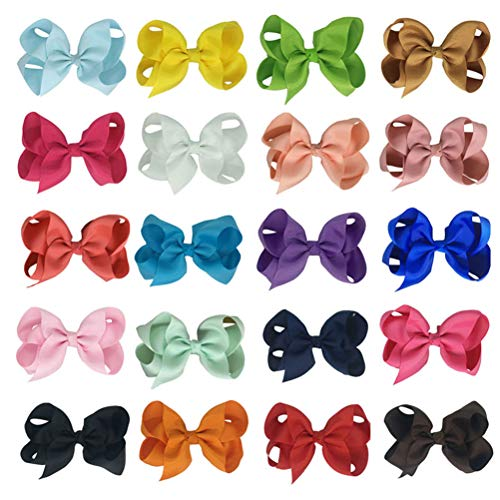20pcs Lovely Hair Pins Cute Bowknot Hair Clips Hair Accessiories for Kids Children (Mixed Color)